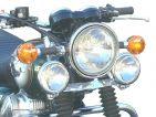 Soporte de faros auxiliares Kawasaki W650, W800