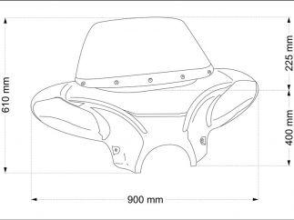 Parabrisas modelo BATWING para Kawasaki Vulcan VN900