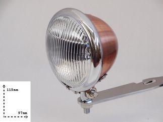 Faro auxiliar homologado cobre - cromado