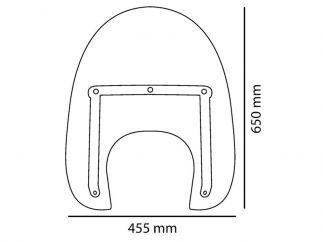 Parabrisas Suzuki Intruder C1800 R - modelo America I