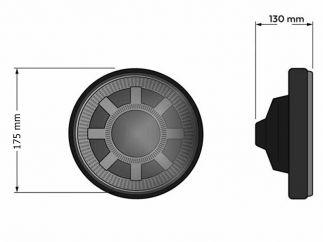 Faro LED Harley Davidson Softail modelo Revolver