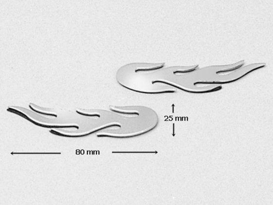 Adhesivo Llamas cromadas (2 unidades)